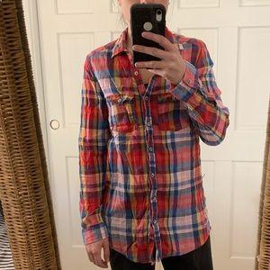 Aerie Boyfriend fit flannel